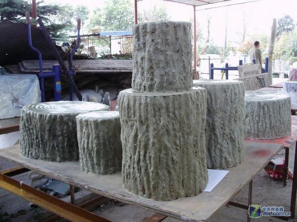 仿木桩工艺