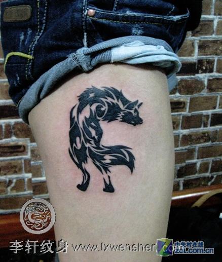 想纹一个狼的纹身.不知在什么位置好!我属鼠.五行禁忌