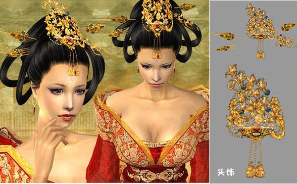 唐代风韵头饰 古代2 高清图片