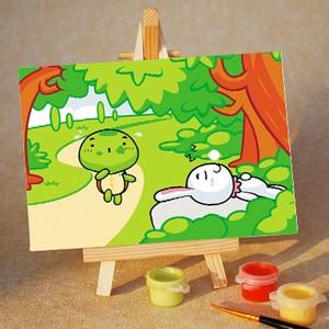 龟兔赛跑/diy手绘油画