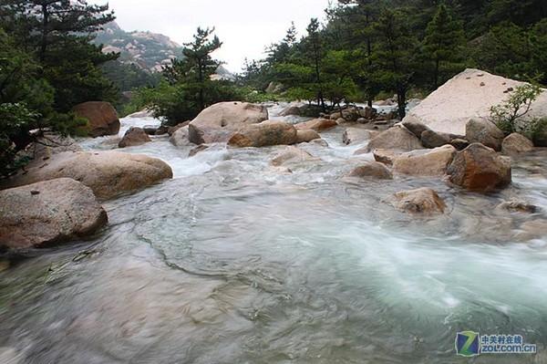 崂山八水河 青岛崂山风景区 中国海洋大学崂山校区